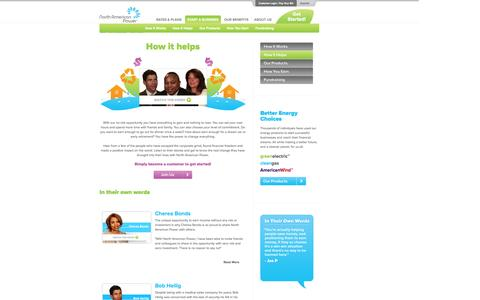 Screenshot of Testimonials Page napower.com - North American Power - We will be America's most admired retail energy company through exceptional growth, innovation, and customer experiences. - captured Oct. 26, 2014