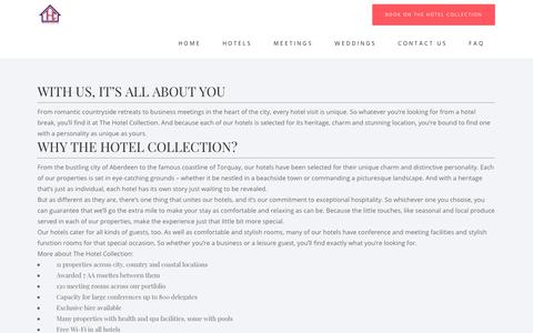 Screenshot of About Page thehotelcollection.co.uk - About Us - About Pages - The Hotel Collection - captured Jan. 6, 2020