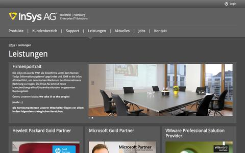 Screenshot of Services Page insys.de - InSys AG | IT-Solutions - captured Feb. 10, 2016