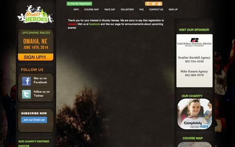 Screenshot of Signup Page muddyheroesrun.com - Muddy Heroes Kids Obstacle Run - captured Oct. 7, 2014