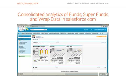 Screenshot of Home Page platform-insight.com - Platform Insight - Intelligent platform reporting in salesforce.com - captured Sept. 11, 2015