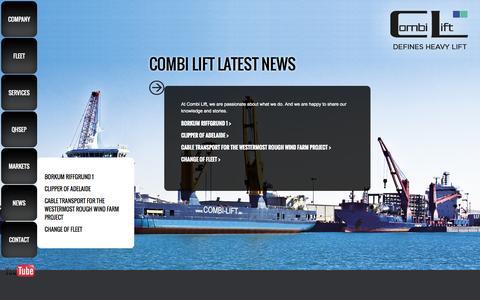 Screenshot of Press Page combi-lift.eu - Combi Lift - News - captured Sept. 30, 2014