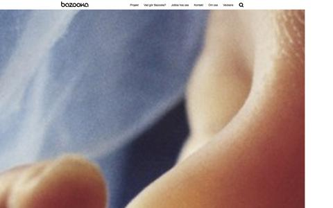 Screenshot of Home Page bazooka.se - Bazooka // Sveriges trevligaste digitala byr� - captured Dec. 29, 2015