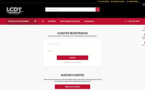Screenshot of Login Page lcdtcorp.com - Acceso del cliente  | LCDT CORP. - captured July 14, 2018