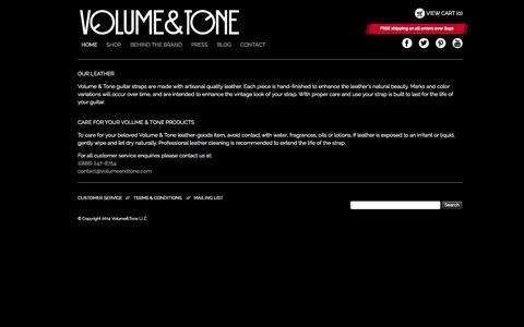Screenshot of Support Page volumeandtone.com - Customer Service   Volume & Tone - captured Oct. 26, 2014
