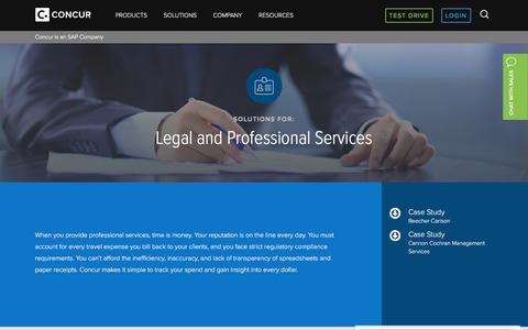 Concur's Solutions for Professional Services - Concur