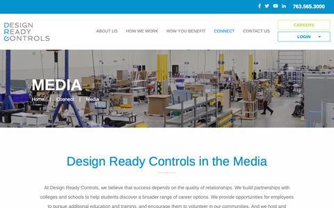 Screenshot of Press Page designreadycontrols.com - Media - Design Ready Controls - captured Dec. 9, 2018