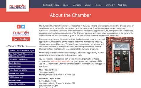 Screenshot of About Page dunedinfl.com - About Us - Dunedin Chamber of Commerce, FL - captured Dec. 7, 2017