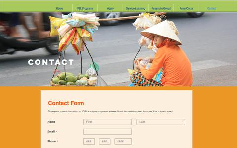 Screenshot of Contact Page ipsl.org - ipsl | Contact - captured Sept. 28, 2017