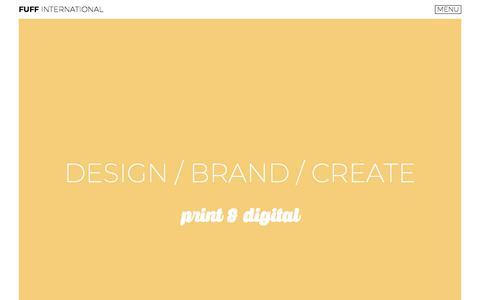 Screenshot of Home Page fuffdesign.co.uk - Fuff International   Graphic Design   Website Design   Advertising - captured Aug. 23, 2018