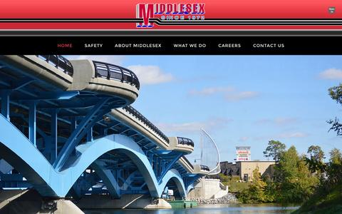 Screenshot of Home Page middlesexco.com - - - captured Feb. 25, 2016