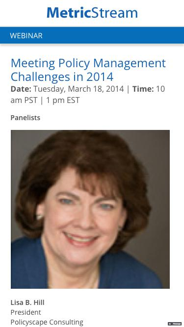 WEBINAR: Meeting Policy Management Challenges in 2014