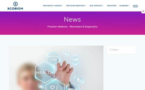 Screenshot of Press Page acobiom.com - To obtain last news from Acobiom in medicine, diagnostics & biomarkers - captured Dec. 21, 2018