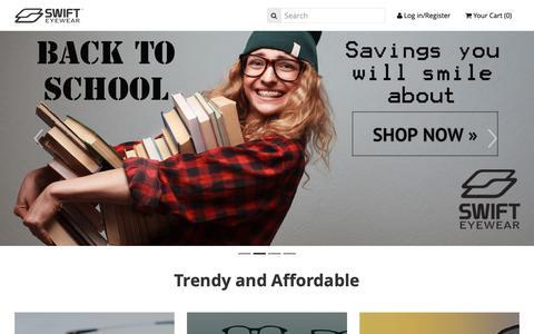 Screenshot of Home Page swifteyewear.com - Prescription glasses online - captured Oct. 18, 2018