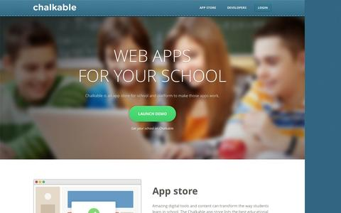 Screenshot of Home Page chalkable.com - Chalkable - captured Sept. 13, 2014