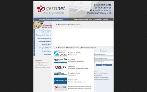 Screenshot of Home Page posicionamientowebyaltaenbuscadores.com - Posicionamiento web en buscadores alta en buscadores empresa barcelona - captured May 21, 2016