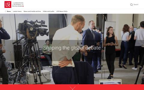 Screenshot of Press Page lse.ac.uk - News - captured March 30, 2017