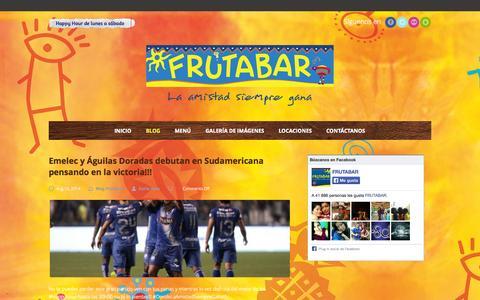 Screenshot of Blog frutabar.com - Blog | Frutabar - captured Oct. 29, 2014