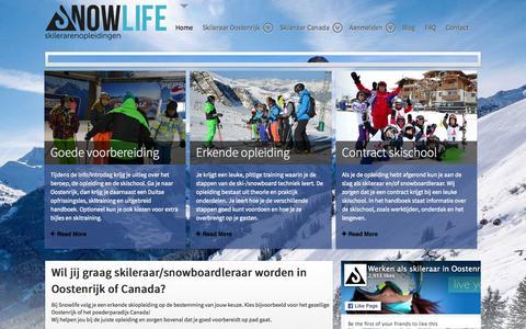 Screenshot of Home Page snowlife.nl - Snowlife.nl - Ski- en/of snowboardleraar worden - Skileraar.eu - Skileraar en/of snowboardleraar worden - captured Sept. 3, 2015