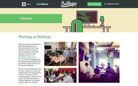 Screenshot of Jobs Page getbellhops.com - Bellhops Careers | Current Openings - captured Dec. 16, 2014