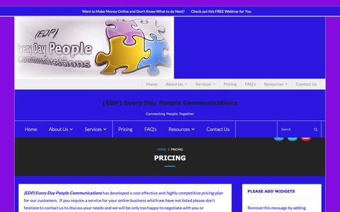 Screenshot of Pricing Page edpcommunications.com - Pricing - - captured Oct. 18, 2018