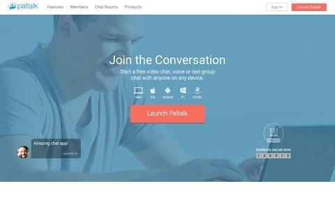 Screenshot of Home Page paltalk.com - Video Chat | Paltalk - captured Dec. 1, 2015