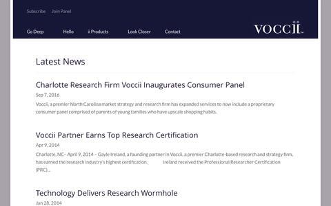 Screenshot of Press Page voccii.com - News - Voccii - captured Sept. 23, 2016