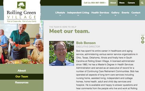 Screenshot of Team Page rollinggreenvillage.com - Our Team | Rolling Green Village - captured Sept. 21, 2018