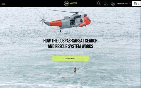 Screenshot of Press Page acrartex.com - Specialized in emergency beacons for all outdoor activities - ACR ARTEX - captured Oct. 2, 2018