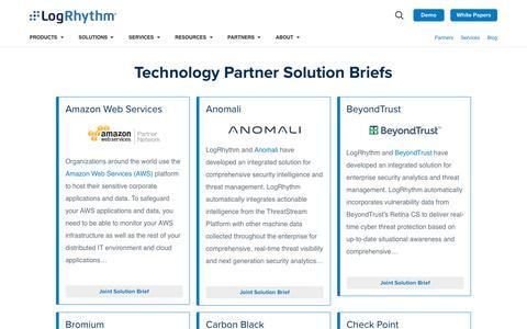 Technology Partner Solution Briefs | LogRhythm