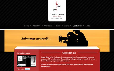 Screenshot of Contact Page trinityfilmcompany.com - Trinity Film Company - Contact Us - captured Nov. 10, 2017