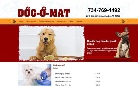 Screenshot of Pricing Page dog-o-mat.com - Dog-O-Mart Prices | Ann Arbor, MI - captured June 23, 2016