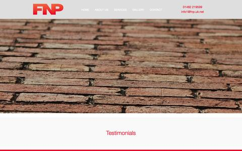 Screenshot of Testimonials Page fnpltd.co.uk - Testimonials — FNP FNP - captured Oct. 5, 2014