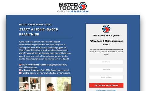 Screenshot of Landing Page matcotools.com - Matco Tools - captured Aug. 23, 2016