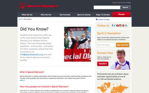 Screenshot of FAQ Page specialolympics.org - Special Olympics: Frequently-Asked-Questions - captured Nov. 2, 2015