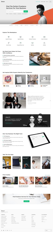 Screenshot of fiverr.com - Fiverr - Freelance Services Marketplace for The Lean Entrepreneur - captured Jan. 10, 2019