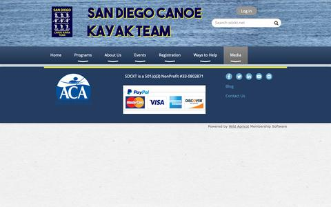 Screenshot of Press Page sdckt.net - San Diego Canoe Kayak Team - Media - captured Nov. 12, 2018