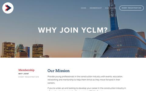 Screenshot of Signup Page yclm.ca - Why Join? — YCLM - captured Oct. 19, 2017