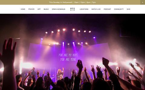 Screenshot of Home Page mosaic.org - Mosaic - captured Jan. 18, 2016