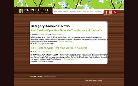 Screenshot of Press Page makifresh.com - News Archives - Maki Fresh - captured Sept. 30, 2014