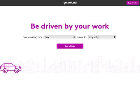 Screenshot of Jobs Page getaround.com - Getaround Jobs - Find a Career in Carsharing | Getaround - captured May 29, 2019