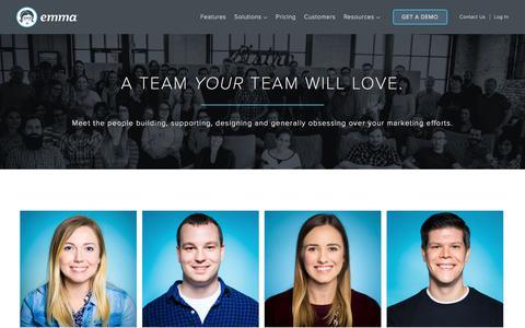 Screenshot of Team Page myemma.com - Meet us - Email Marketing Software   Emma Email Marketing - captured Sept. 22, 2017