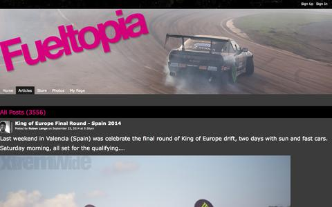 Screenshot of Blog fueltopia.co.uk - All Posts - Fueltopia - captured Sept. 30, 2014