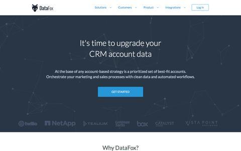 DataFox | CRM Orchestration