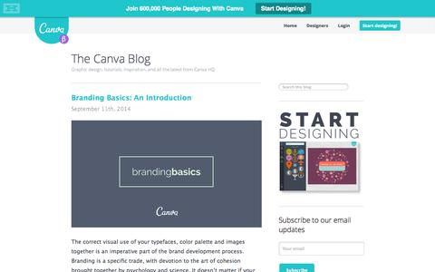 Screenshot of Blog canva.com - The Canva Blog - Graphic design, tutorials, inspiration, and all the latest from Canva HQ - captured Sept. 13, 2014