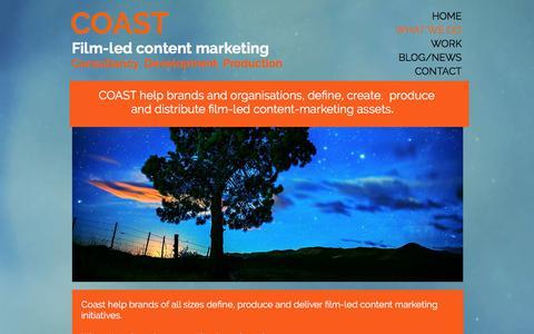 Screenshot of Team Page coasthouse.com - What  we do Coast, coast house, brand content, content marketing, - captured Aug. 9, 2017
