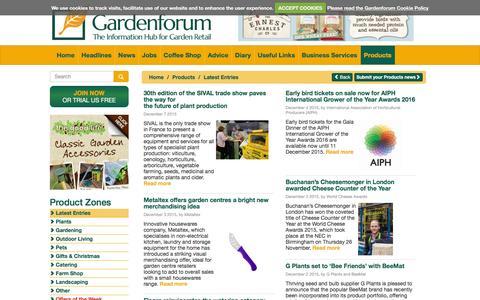 Screenshot of Products Page gardenforum.co.uk - Gardenforum Products - captured Dec. 7, 2015