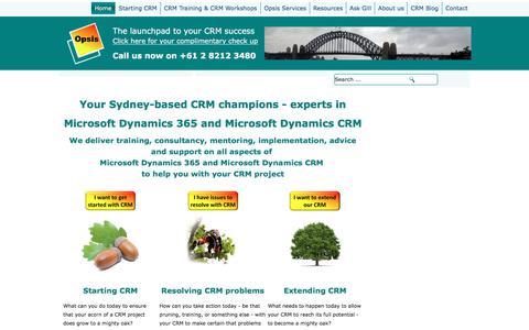 Screenshot of Home Page opsis.com.au - Home - captured June 13, 2017