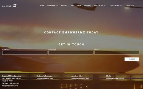 Screenshot of Contact Page empowermx.com - Contact | EmpowerMX - captured Dec. 8, 2018