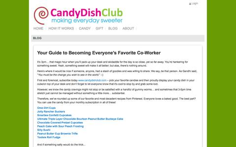 Screenshot of Blog candydishclub.com - Candy DishBLOG - captured Sept. 27, 2014